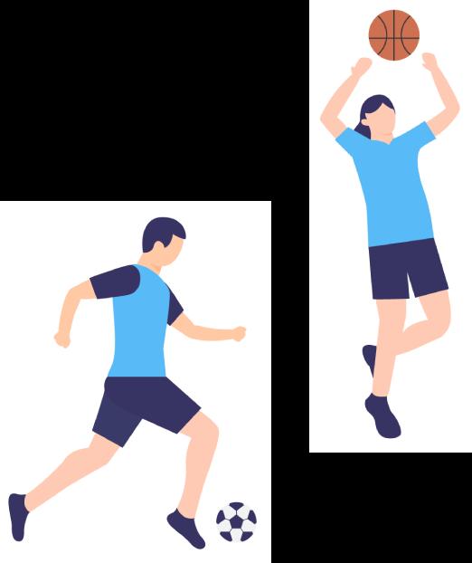 スポーツをするイメージ